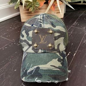 Upcycle Louis Vuitton camo hat